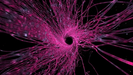 spiral made of microstructural organic fiber closeup view