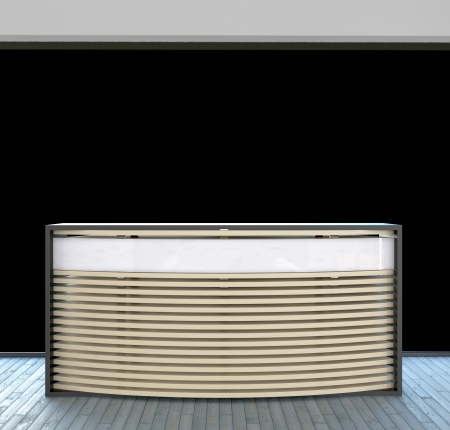 modern design reception counter in abstract business inter Stock Photo - 22467935