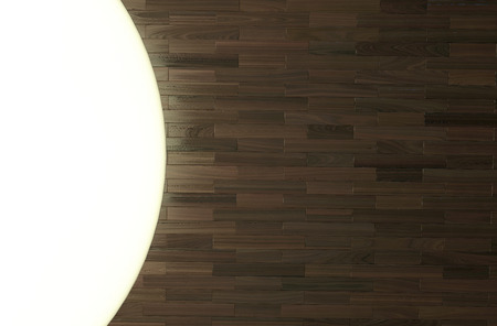 fine wood flooring with white light above photo