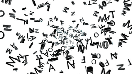 abstract typographic background made of many different letters photo