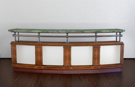 classic design long bar counter in abstract interior photo