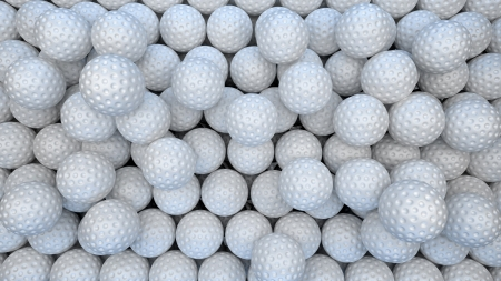 abstract background made of many golf balls Stock Photo - 22471510