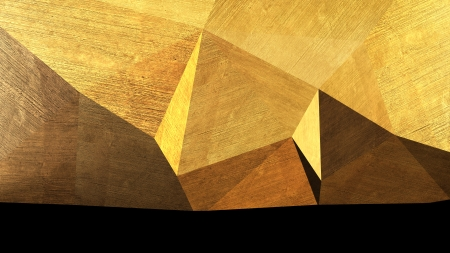 abstract triangular space made of concrete blocks Stock Photo - 22471576