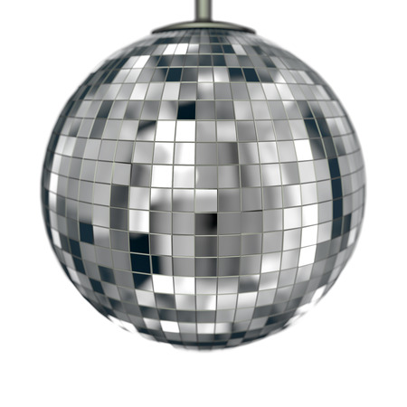 classic disco ball isolated on white with depth of field Stock Photo - 22471591