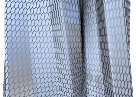 abstract architectural background made of hexagonal matted surface Stock Photo - 22471822