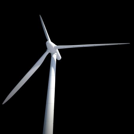 few wind power generator isolated on black Stock Photo - 22471825