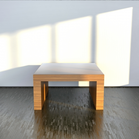 empty clear table made of fine wood in abstract interior Stock Photo - 23824822