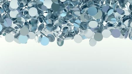 abstract background with many glossy confetti particles  Stock Photo - 24649913
