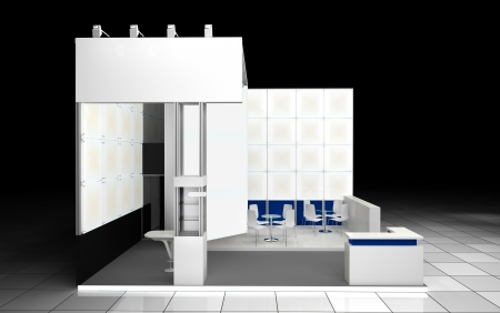 blank area: Abstrct modern exhibition booth design project