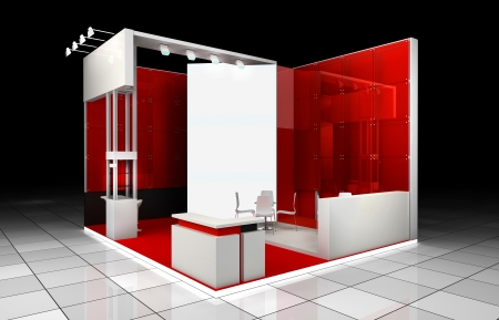 Abstrct modern exhibition booth design project
