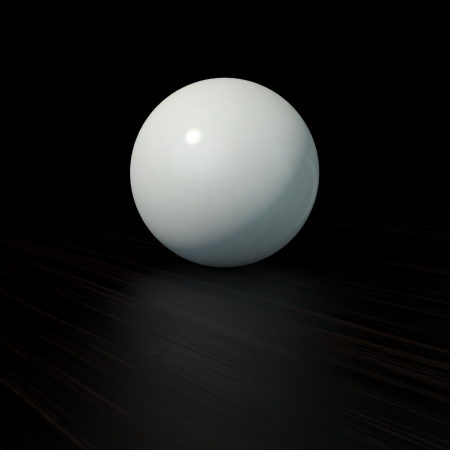 glossy white sphere with highlights on black background photo