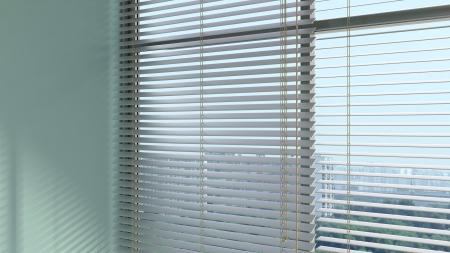 jalousie: fine window with jalousie in an abstract modern interior