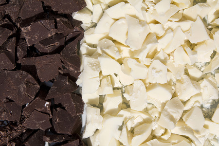 dark and white crushed chocolate refined confectionary background photo