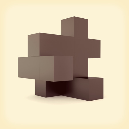 matted: abstract business composition with black matted boxes