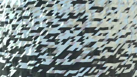 abstract architectural background made of many metallic triangles photo