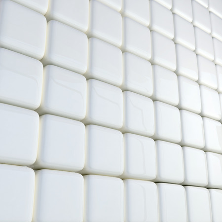 abstract business background made of many glossy white boxes photo