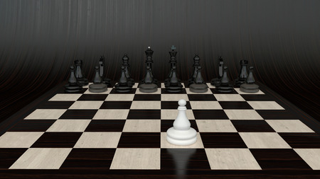 opponents: Businees style situation, showing obviously unequal forces of opponents Stock Photo