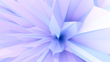 abstract architectural background as a part of blue triangular object
