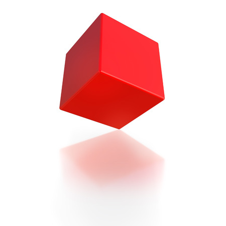 fearless: another one red cube fearless balancing on one corner
