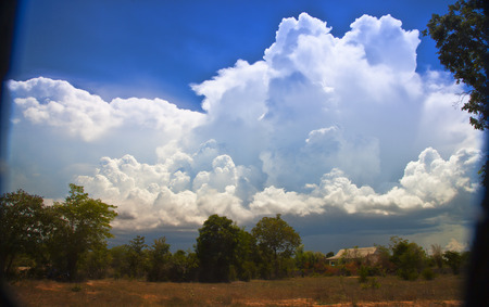 dramatic: southern landscape with huge dramatic cloud above