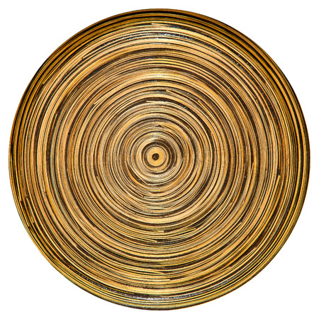 craft product: traditional style hand made bamboo plate as an authentic craft product