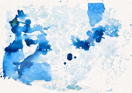 abstract background with blue watercolor splashes photo