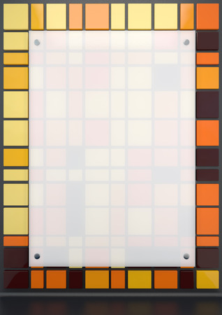 plexiglas: white translucent plastic mounted on a colored background