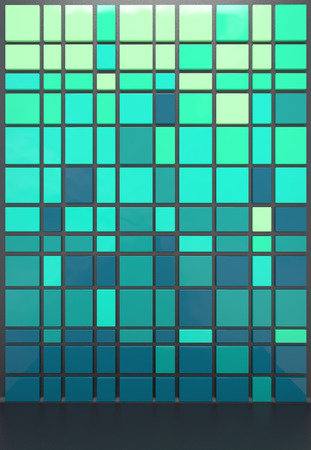 abstract architectural background with green plastic panels photo
