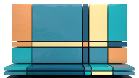abstract architectural background made of glossy plastic blocks photo