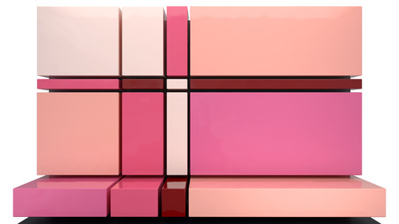 abstract background made of pink glossy rectangular panels photo