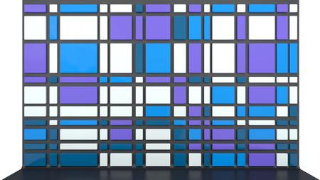 room accents: sfondo architettonico astratto con parete vuota fatta di pannelli di plastica lucida
