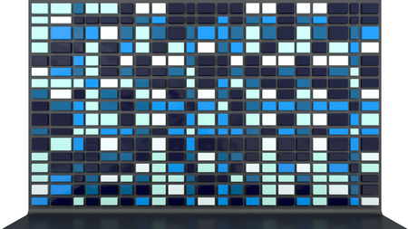abstract architectural background with empty wall made of glossy plastic panels Stock Photo
