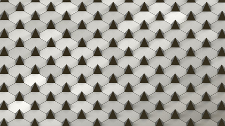 abstract geometric background with small pyramides arranged on plane photo