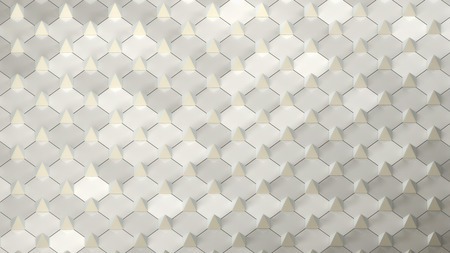 arranged: abstract geometric background with small pyramides arranged on plane