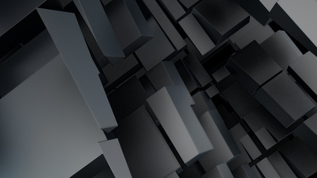 massive: abstract digital background with massive random shape blocks