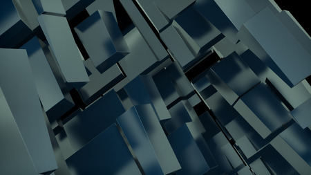 chaos order: abstract digital background with massive random shape blocks