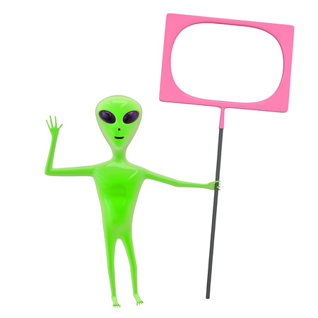 wave tourist: traditional alien character isolated on white