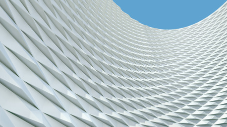 abstract architectural background with white geometric surface Stockfoto