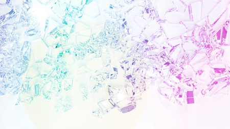 aberrations: abstract background with broken glass pieces with color photo filters Stock Photo