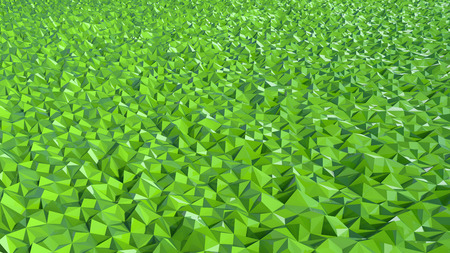 geodesy: abstract digital landscape made of green triangular surface