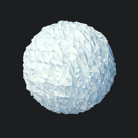 relievo: white glossy sphere with crumpled surface isolated on black