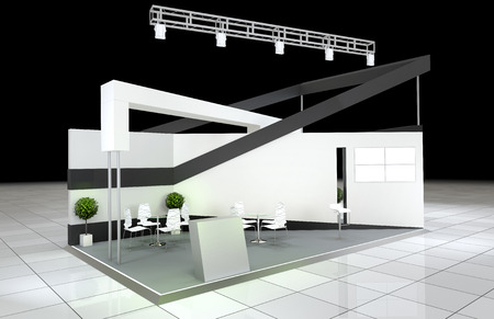 business exhibition: modern design abstract exhibition stand Stock Photo