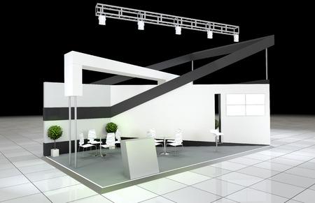 modern design abstract exhibition stand Standard-Bild