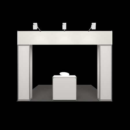 frieze: modern exhibition booth with blank frieze and reception counter