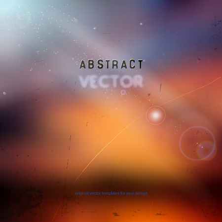 red sky: abstract vector background with blurred sunset lighting