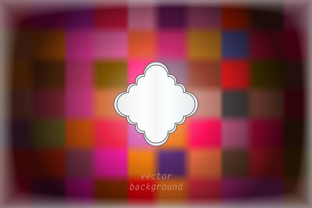 glint: abstract colorful vector background with blurred rectangulars and vignette Illustration