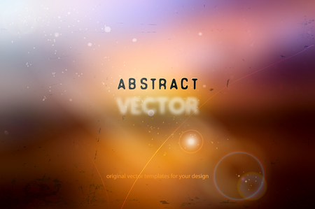 lighting background: abstract vector background with blurred sunset lighting