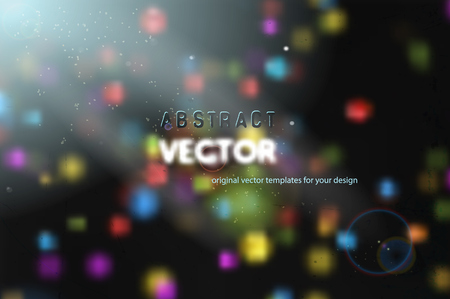 ray light: abstract colorful particles with ray of light, vector background Illustration