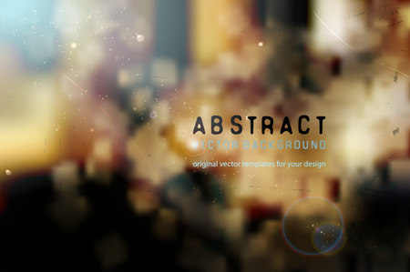 ambient: blurred vector background with abstract shapes and ambient lighting