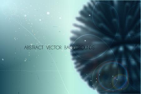 구형 모양으로 추상적 인 벡터 배경 작은 기하학적 입자 벡터 (일러스트)